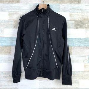 3 Stripe Track Jacket Black White Adidas
